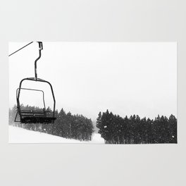 Ski Lifts Views Rug