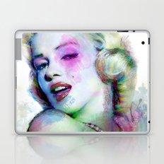 Marilyn under brushes effects Laptop & iPad Skin