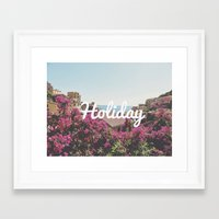 holiday Framed Art Prints featuring Holiday by Laure.B