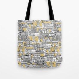 Paris toile gold Tote Bag