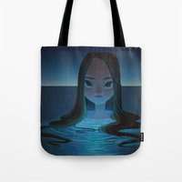 siren Tote Bags featuring siren by miova