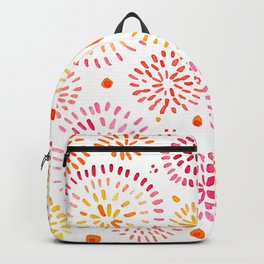 Abstract watercolor sparkles – yellow and orange Backpack