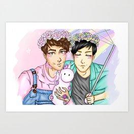 Pastel Dan and Phil Art Print
