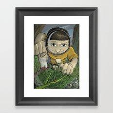 Moss Creature Framed Art Print
