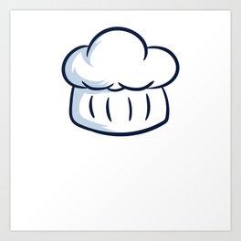 Bake Food Butter Snack Cake Baking Collection T-shirt Design Bakers Gonna Bake Chef Hat Cupcake Art Print