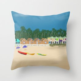 Palolem Beach in Goa Throw Pillow