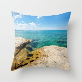 The Coves on Lake Superior - Pictured Rocks Throw Pillow