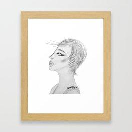 Sketchy Profiling Framed Art Print