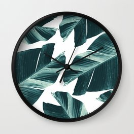 Tropical Banana Leaves Vibes #2 #foliage #decor #art #society6 Wall Clock