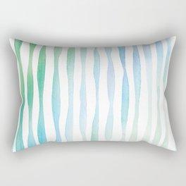 Watercolour Stripes   Spring Palette Rectangular Pillow