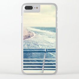 Beach at summer sunset Clear iPhone Case
