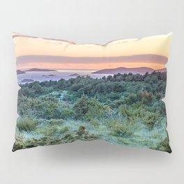 colorful sunset over the Ciovo island, Croatia Pillow Sham