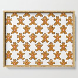 Gingerbread Man Pattern Serving Tray