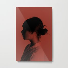 Cameo Red Metal Print