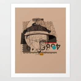 william s burroughs Art Print