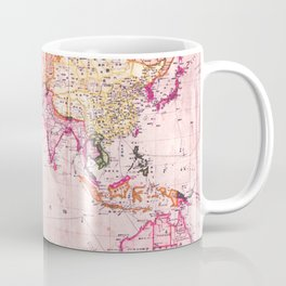 Vintage Map Pattern Coffee Mug