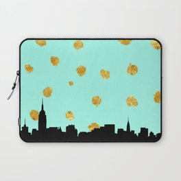 NYC Mint and Gold Laptop Sleeve