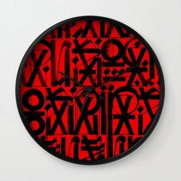 egypt script Wall Clock