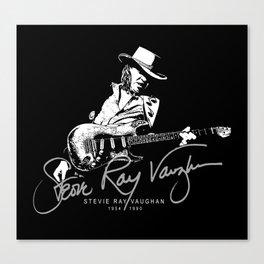 Stevie Ray Vaughan - Guitar-Blues-Rock-legend t2 Canvas Print