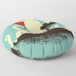Octopus's Garden Floor Pillow