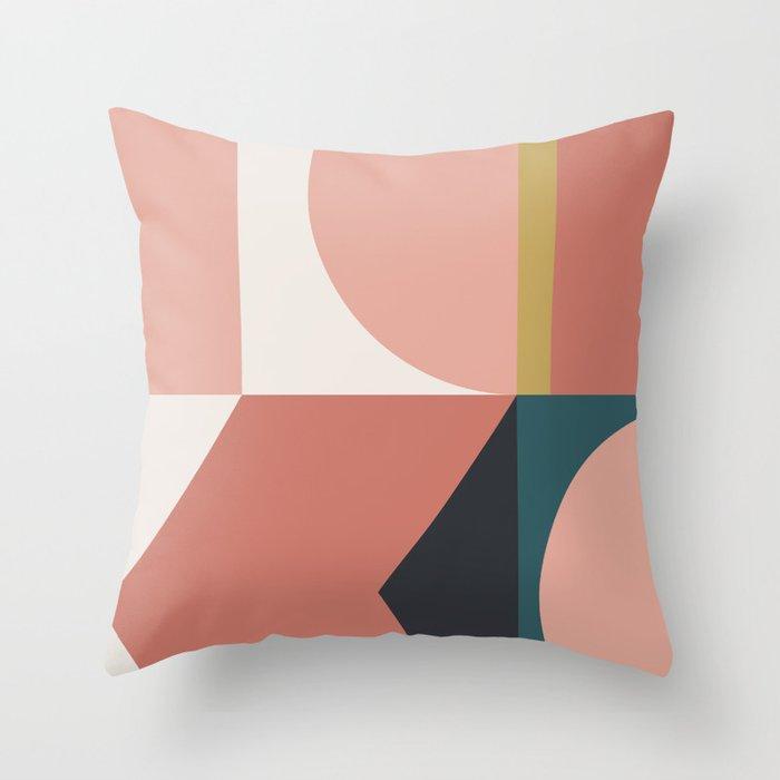 Maximalist Geometric 02 Throw Pillow