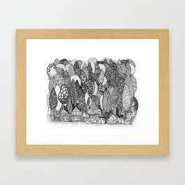 Mysterious Village Framed Art Print