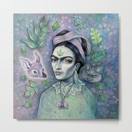 Magical Girl Frida Metal Print