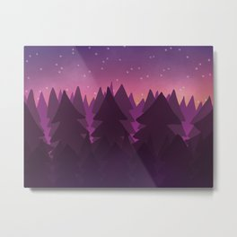 Sleepy Forest Metal Print