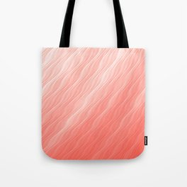 Living Coral Wavy Ombre Pattern Tote Bag