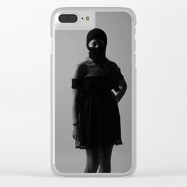 B with ski mask Clear iPhone Case
