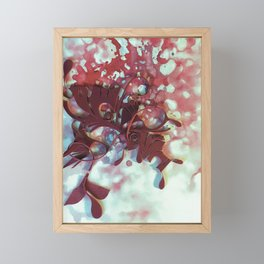 The Fever- Crimson Abstract Floral Watercolor  Framed Mini Art Print