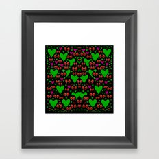 love hearts and roses Framed Art Print