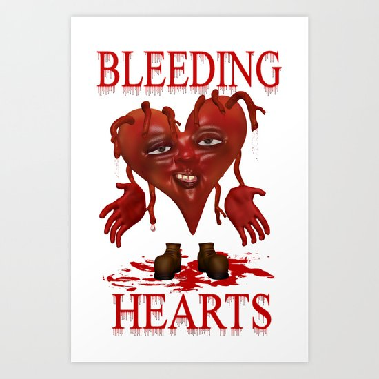 Bleeding Hearts .. gothic fantasy Art Print