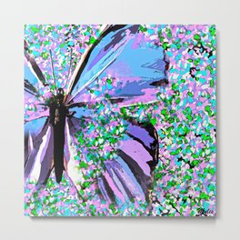 Butterfly Painterly Metal Print
