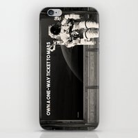 astronaut iPhone & iPod Skins featuring Astronaut by eARTh