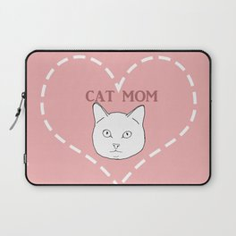 Proud Cat Mom Laptop Sleeve