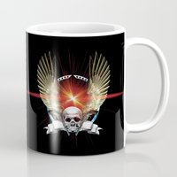 guns Mugs featuring Skull & Guns by Messiahsc