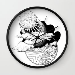 Moonlit World Wall Clock