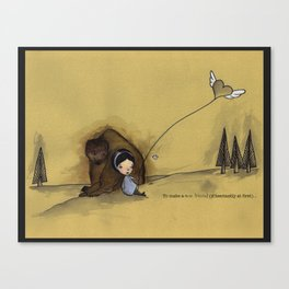 to make a new friend (if hesitantly at first) Canvas Print