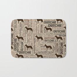 Dutch Shepherd - Hollandse Herder - Dutchie Bath Mat