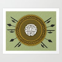shield Art Prints featuring Shield  by Daniac Design