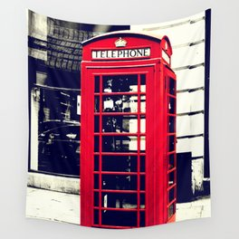 British Telephone Booth Wall Tapestry