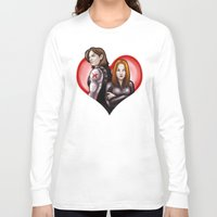 soviet Long Sleeve T-shirts featuring Soviet Sweethearts by rnlaing