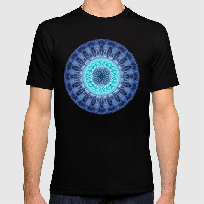 Mandala Iceblue 3 T-shirt