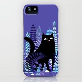 The Ferns (Black Cat Version) iPhone Case
