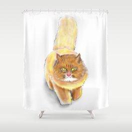 Battle Fat Cat Shower Curtain