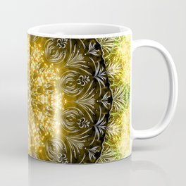 Yellow Firework Mandala Coffee Mug