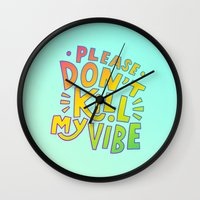 kendrick lamar Wall Clocks featuring Kendrick Lamar for Kids by Josh LaFayette