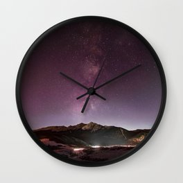 Milky Way Landscape Wall Clock