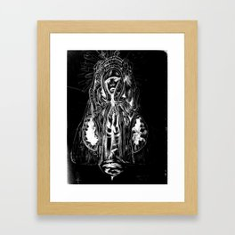 Black. Fly. Maria. Framed Art Print